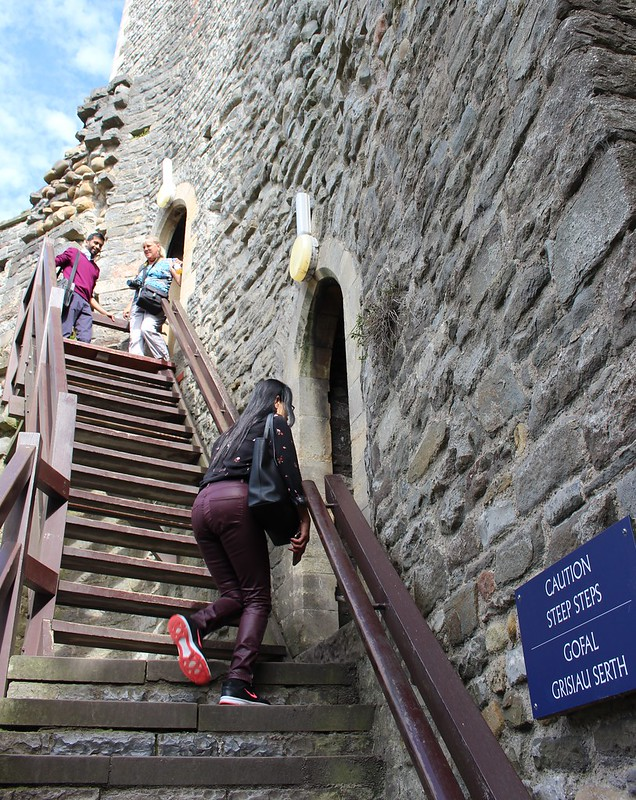 Steps inside Cardiff Castle