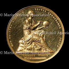 Maria Mitchell gold medal obverse
