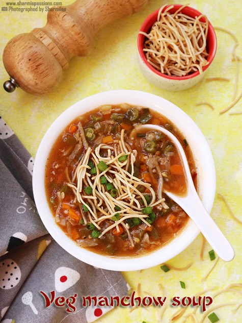 Vegetable manchow soup recipe