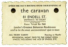 Card of the Caravan Club, Endell Street, London Catalogue Reference: MEPO 3/758