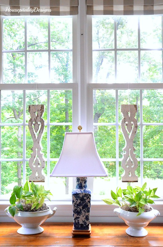 Blue and White Lamp-Ironstone-Housepitality Designs