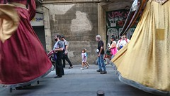 Giants of Barcelona in the Born district