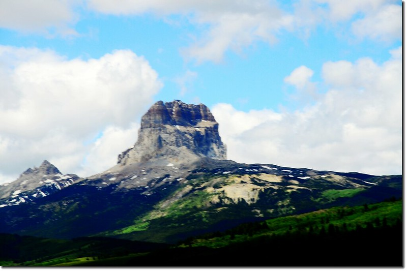 Chief Mountain on the border of Glacier National Park 1