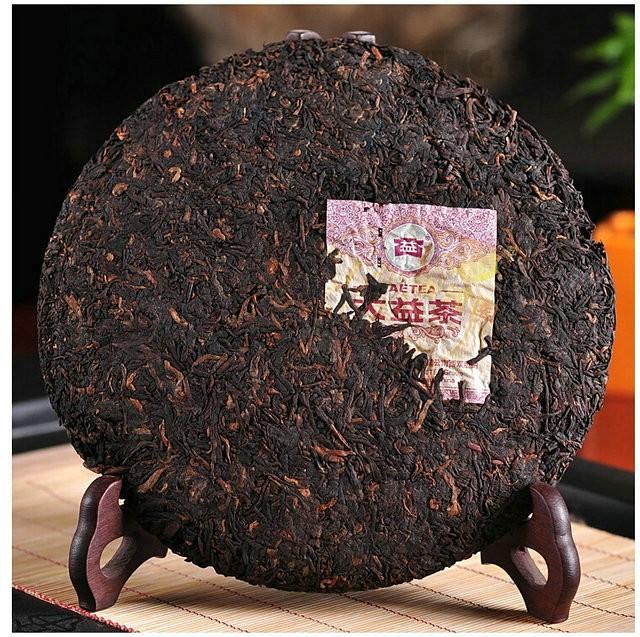 Free Shipping 2006 TAE TEA DaYi 7592 Beeng Cake 357gYunNan MengHai Organic Pu'er Pu'erh Puerh Ripe Cooked Tea Shou Cha