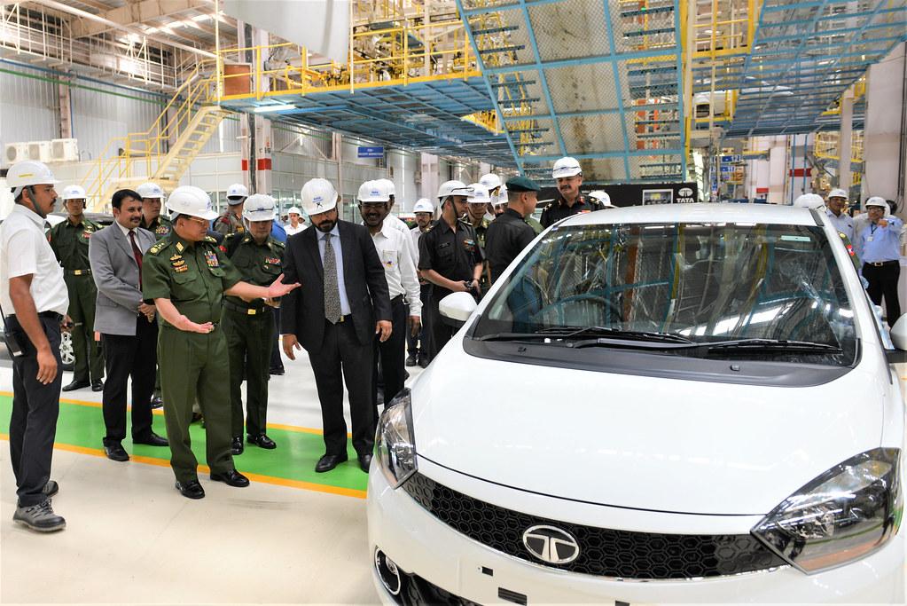 Myanmar lead visit to Tata Motors plant