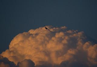 Plane, cloud