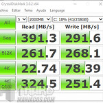Portátil Acer Swift 7 Test SSD con crystaldiskmark