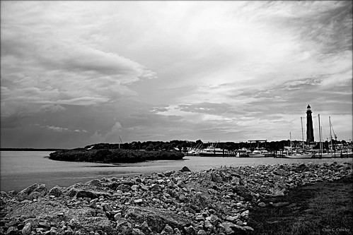 astormwasbrewing ponceinletflorida storm inlet lighthouse blackandwhite monochrome scenic landscape seascape