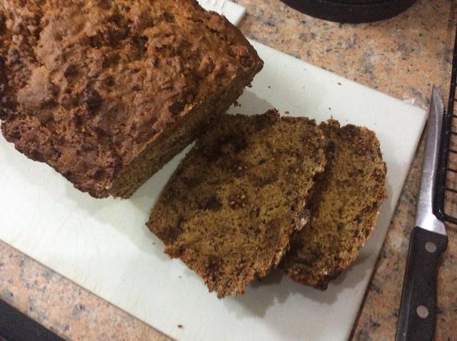 Hemp and mulberry tea loaf