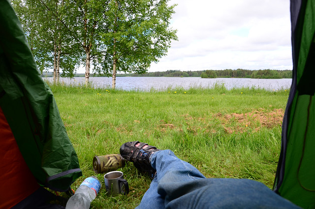 Camping in Kemijarvi