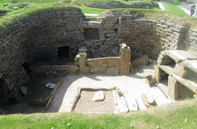 Neolithic House with Stone Dresser, Skara Brae, Orkney