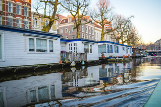 Floating houses.