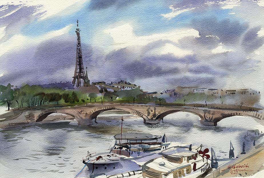 Paris. 2017 56х38см, Fabriano Artistico, watercolor