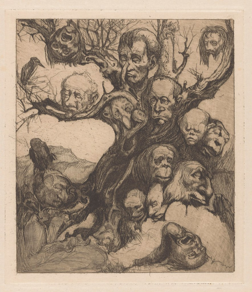 Johannes Josephus Aarts - Tree with  fantastic heads