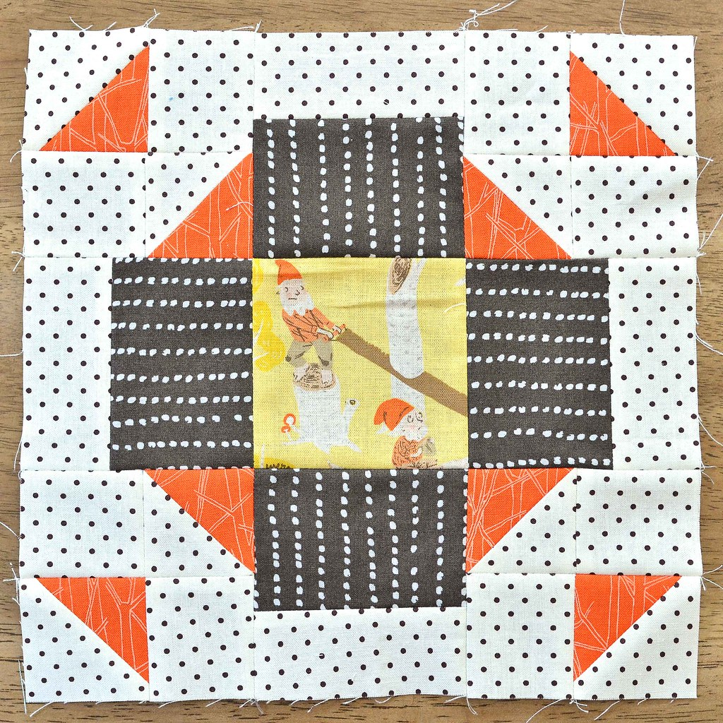 The Fussy Cut Sampler Block # 45
