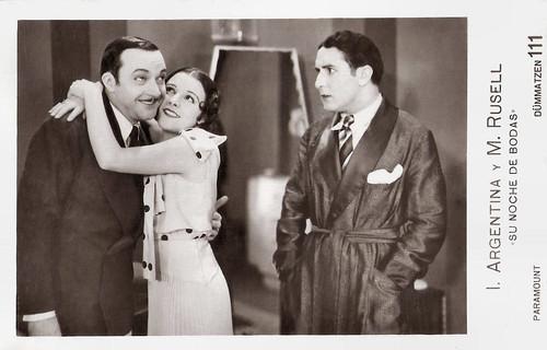 Imperio Argentina, Manuel Russell and Pepe Romeu in Su noche de bodas (1931)