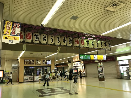 熊谷駅のうちわ祭提灯【うちわ祭2017】