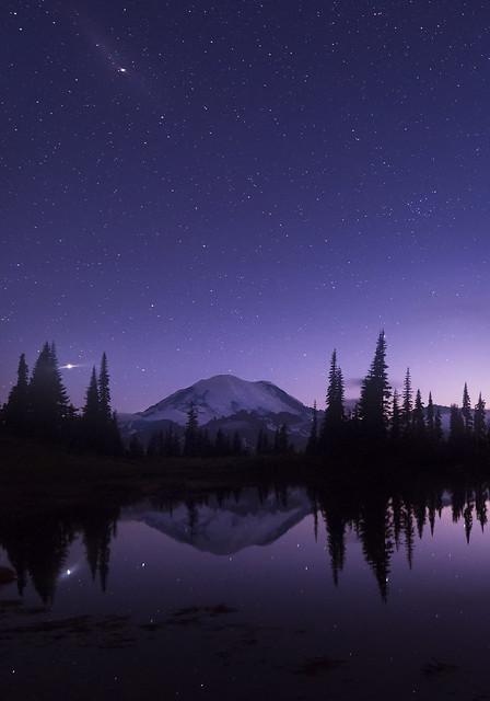 Tipsoo Lake at Night (Mt Rainier NP, WA)