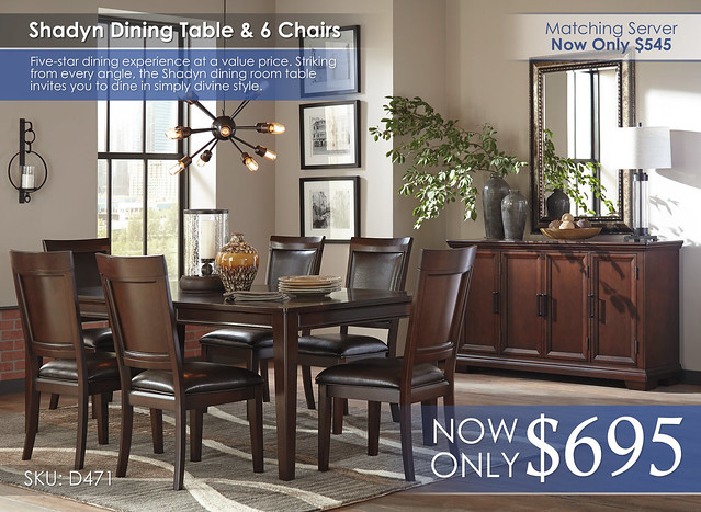 Shadyn Table and 6 Chairs D471-35-01(6)-60-R400891