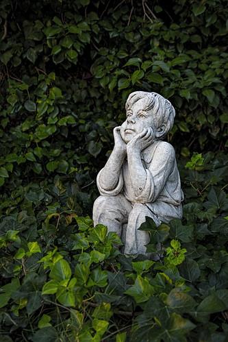 El pensador del jardín.