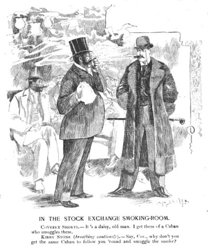 in the stock exchange smoking room (1888)