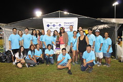 Hawaii Electric Light at Relay for Life - July 15, 2017: Team Hawaii Electric Light with our Miss-ter Relay, Broana