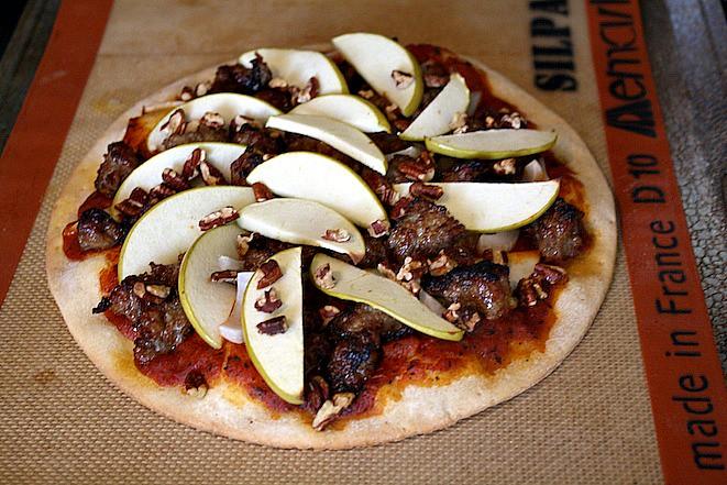 Rustic Sausage Apple Pizza