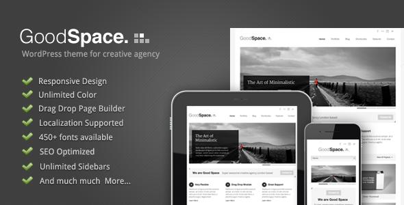 Good Space v1.14 – Responsive Minimal WP Theme