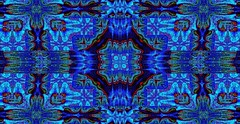 Blue Wildflower Tribal Blanket by Sherrie D. Larch