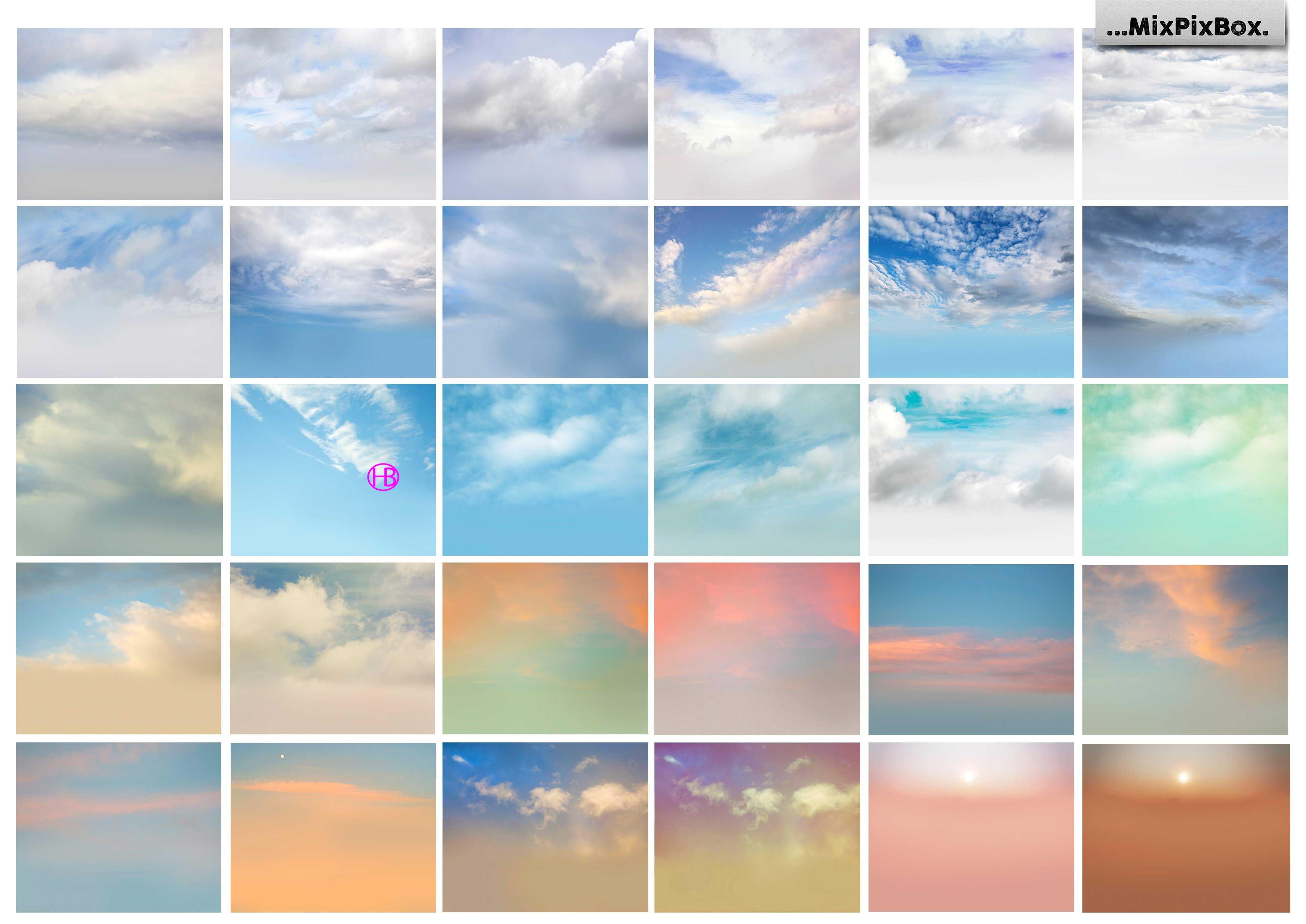 60 overlay bầu trời đẹp