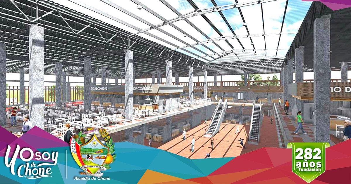 El nuevo centro comercial municipal es una obra que cambiará el ornato de Chone