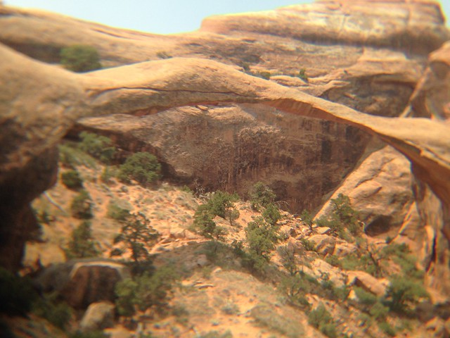 Telephoto View of Landscape Arch