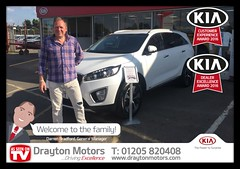 Mr Lascelles on collecting his second car from Adrian at Drayton Motors! We thank you for your continued support and hope to see you soon