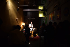 Poetry night in Malasa�a, Madrid