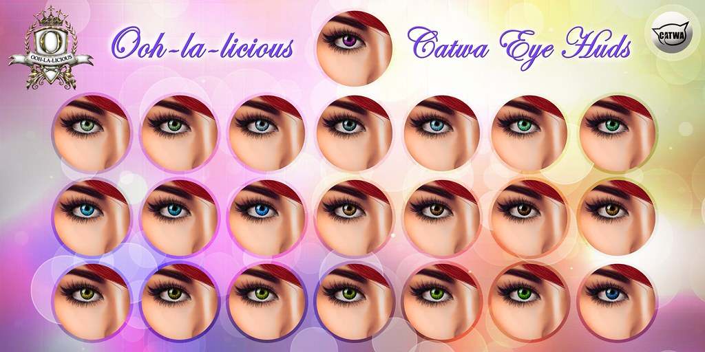Ooh-la-licious® Catwa Eye HUD Collection - The Makeover Room Exclusive! - SecondLifeHub.com