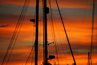 HM - Cynde Baumann - Sailboat at Sunrise