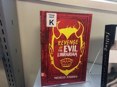 """Revenge of the evil librarian"", Young Adults area, Fendalton Library"