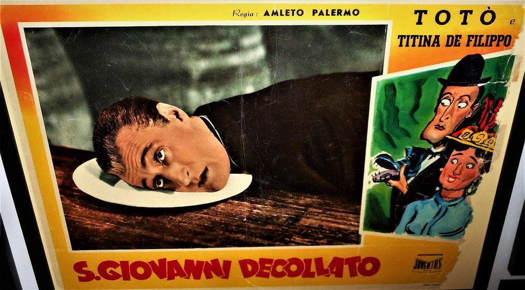 Affiche de film avec l'acteur comique originaire du quartier de la Sanita : Toto.