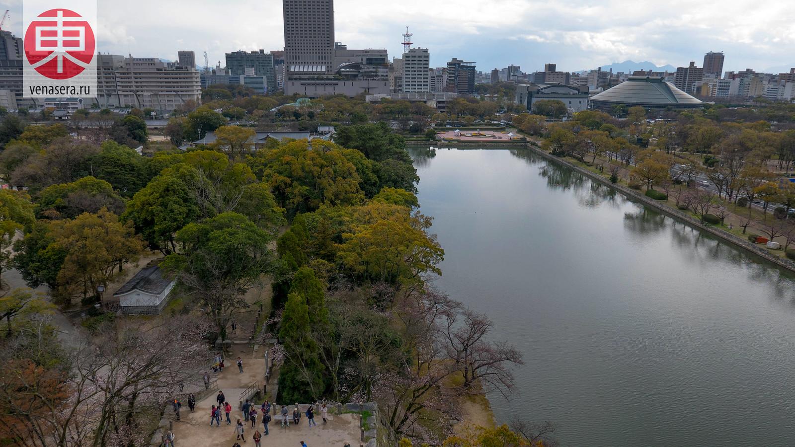 Замок Хиросима, Япония.