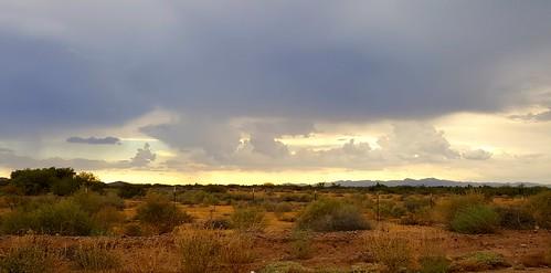 storm clouds rain desert