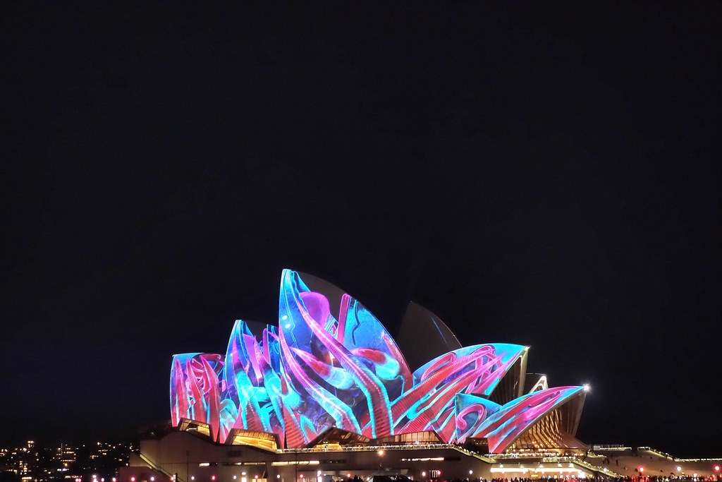 Sydney - Vivid Festival - Opera House 1