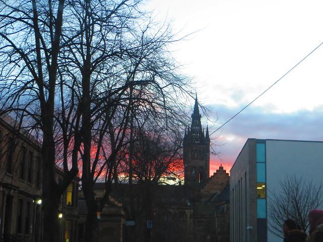 Glasgow University sky