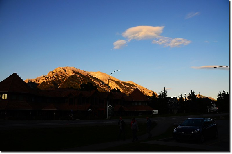 Grotto Mountain at Sunset