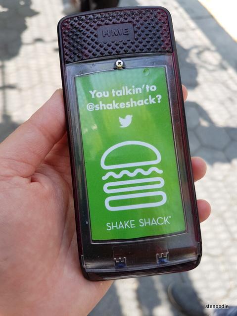Shake Shack electronic beeper