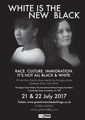 """7.30pm @anthonyburgess  """"Thought-provoking, emotive & beautifully delivered theatre"""" @OpeningNight_  @nicola_gardner1 https://www.ticketweb.uk/search?q=White+is+the+new+Black&org/216863&pl=mff"""