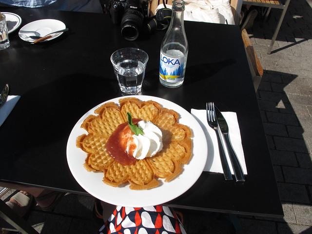 saturday, waffles, fika, day trip to varberg, varberg