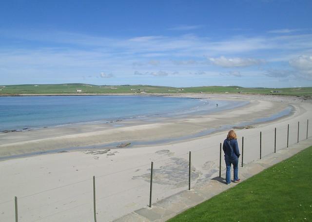 Beach at Bay o' Skaill, Orkney,  from Skara Brae
