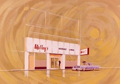 Concept Art for Molloy's Restaurant Signage - Artist Unknown - Photo Dated December 1963