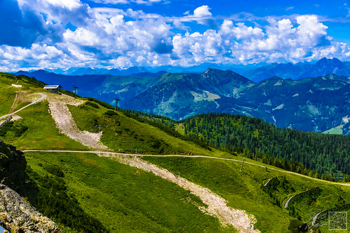 2017 flachau juli mittag salzburg sommer sonne wolken mittags sonnig österreich
