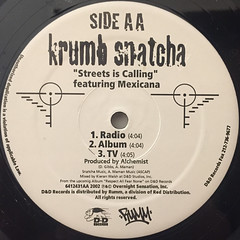 KRUMB SNATCHA:INCREDIBLE(LABEL SIDE-B)